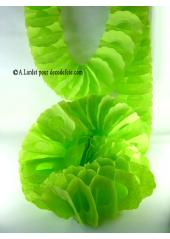 1 guirlande zinnia VERT ANIS