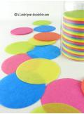 Confettis rond multicolore