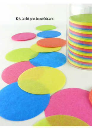 Confettis rond multicolore - Deco table multicolore ...