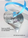 12 Etiquettes MIROIR coeur