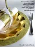 10 Sous assiettes BRILLANTES or