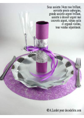 10 Sous assiettes BRILLANTES rose lavande