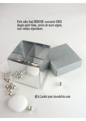 10 petits cubes MIROIR & GRIS
