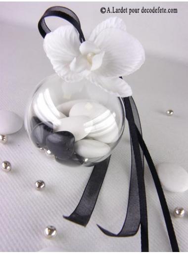 1 Boule transparent blanc 5cm