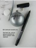 1 Boule transparent argent 5cm