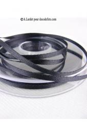 50m Ruban 3mm satin noir