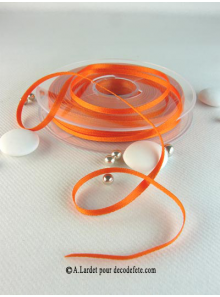 50m Ruban 3mm satin orange