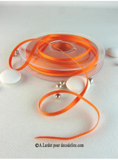 50m Ruban 3mm satin orange