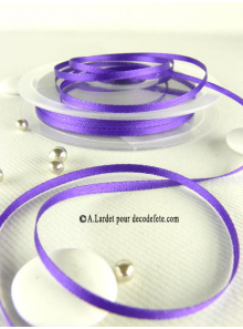 50m Ruban 3mm satin violet