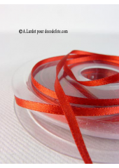 50m Ruban 3mm satin rouge