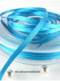 50m Ruban 3mm satin turquoise