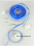 25m Ruban 3mm satin bleu roy