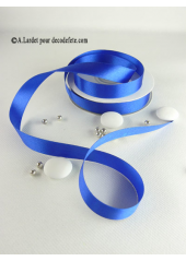 25m Ruban 15mm satin bleu roy