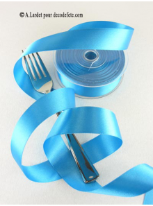 25m Ruban 25mm satin turquoise