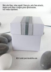 10 petits cubes blanc