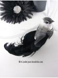 2 oiseaux inséparables majestueux noir