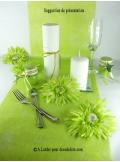 4 Gerberas vert anis