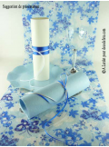 5M Chemin de table papillons turquoise