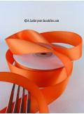25m Ruban 25mm satin orange