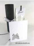 12 Etiquettes papillon blanc