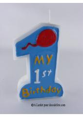 Bougie 1er anniversaire garçon
