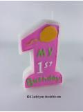 Bougie 1er anniversaire fille