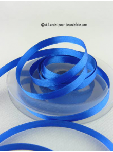 25m Ruban 6mm satin bleu roy