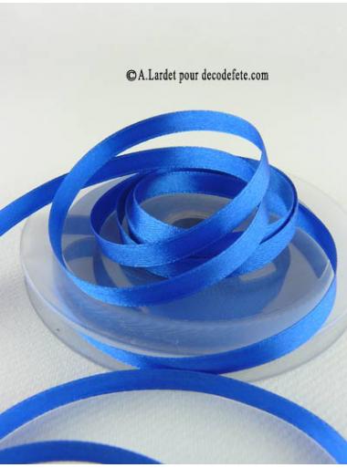 25m Ruban 6mm satin bleu roy