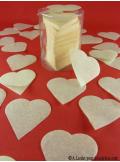 Confettis coeur ivoire