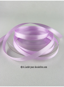 25m Ruban 6mm satin lili rose