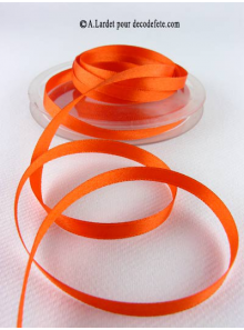 25m Ruban 6mm satin orange