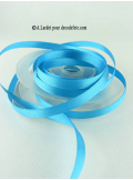 25m Ruban 6mm satin turquoise