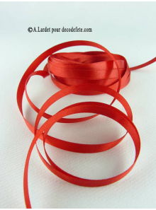 25m Ruban 6mm satin rouge