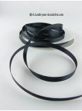 25m Ruban 6mm satin noir
