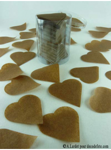 Confettis coeur chocolat