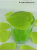 Confettis coeur vert anis