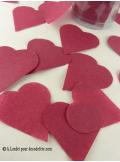 Confettis coeur bordeaux