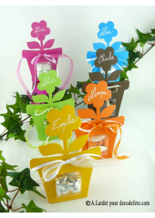 6 boîtes fleur CHOCOLAT