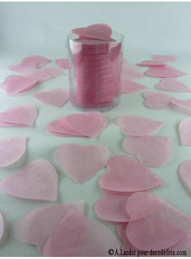 Confettis coeur rose