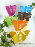 6 boîtes papillon TURQUOISE