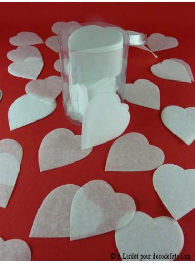 Confettis coeur blanc