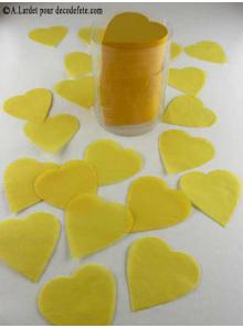 Confettis coeur jaune