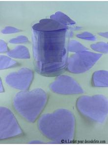 Confettis coeur lilas