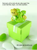 1 Ourson VERT ANIS