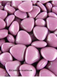 150g Petits coeurs violette