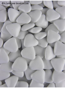 500gr Petits coeurs blancs