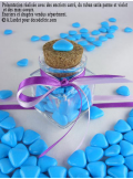 450gr Petits coeurs turquoise