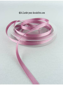 25m Ruban 6mm satin trendy vieux rose