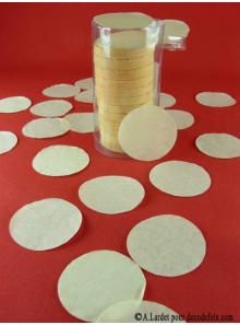 Confettis rond ivoire