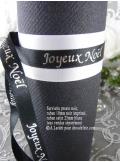 10m Ruban 10mm satin JOYEUX NOEL noir